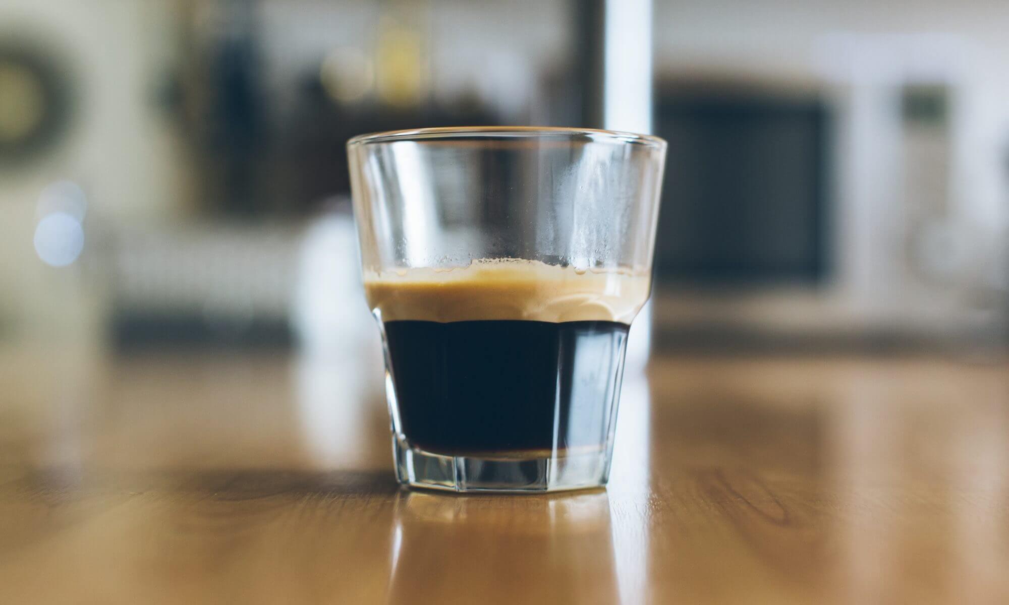 Koffie in een glas