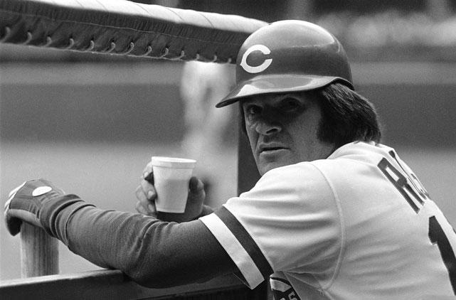 Pete Rose met koffie in de hand